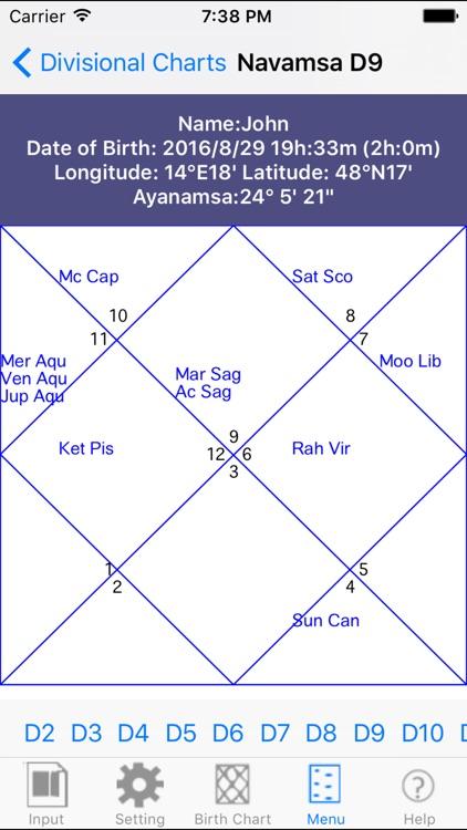 iHoroscope Vedic screenshot-3