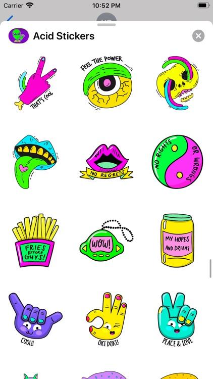 Acid Stickers: Trippy Fun screenshot-4