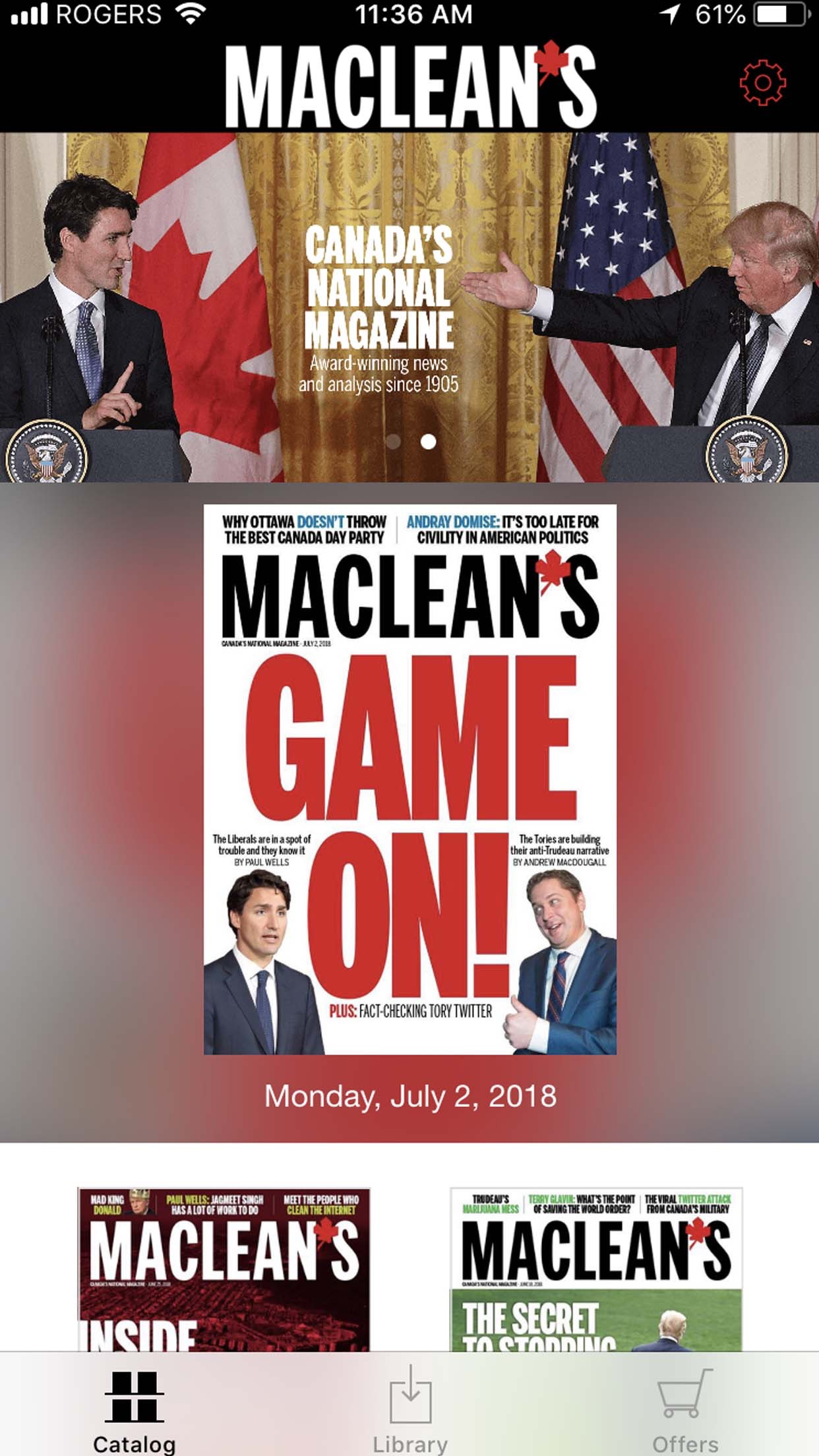 Maclean's Magazine Screenshot