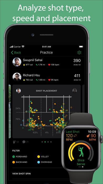 Screenshot #1 pour SwingVision - A.I. Tennis App