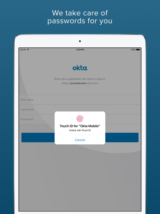 Okta Mobile on the App Store