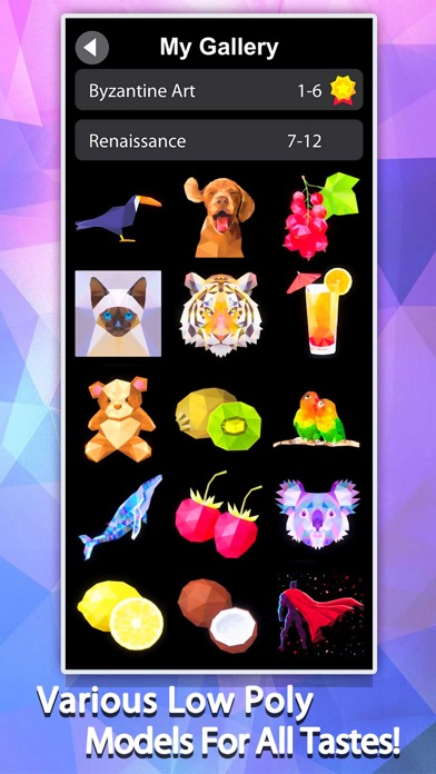 Idle Painter 3D-Low Poly&Tap screenshot 1