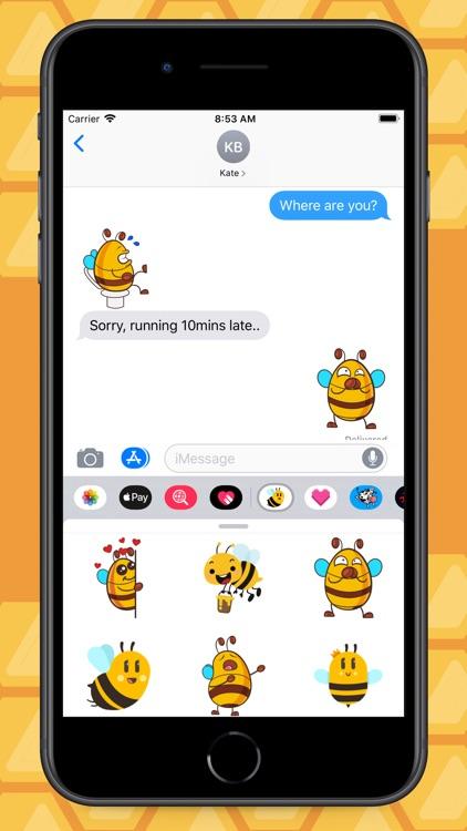 Love Bees Stickers screenshot-4