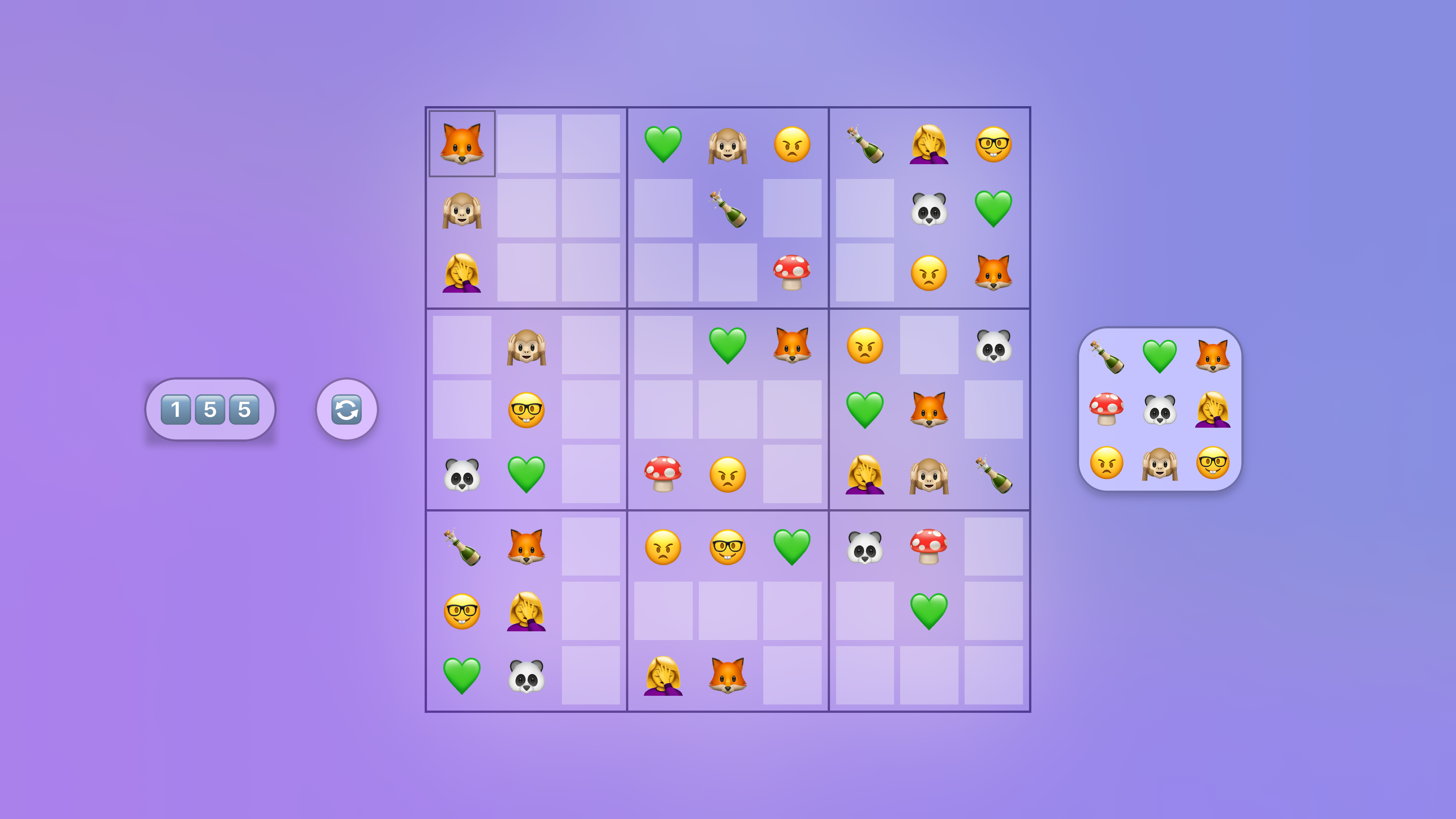 Jan's Emoji Sudoku screenshot 6