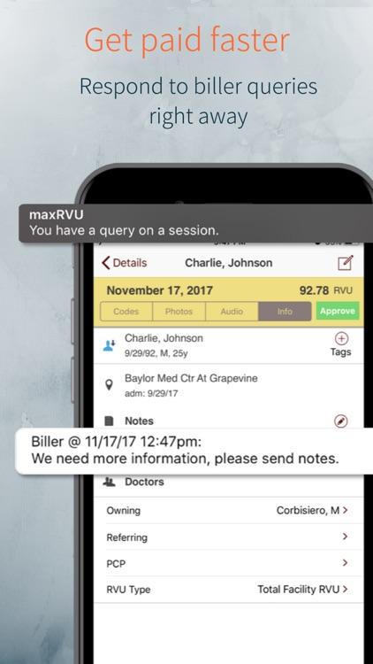 maxRVU Charge Capture screenshot-3
