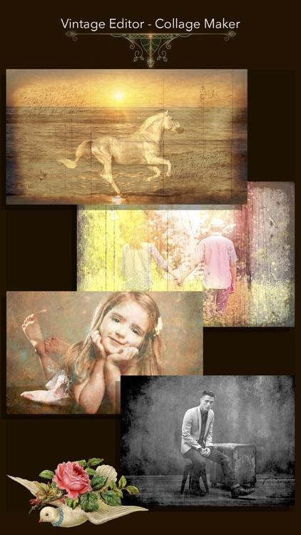 Vintage Editor - Collage Maker screenshot-4