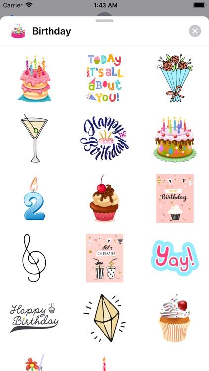 200+ Happy Birthday Stickers screenshot-4