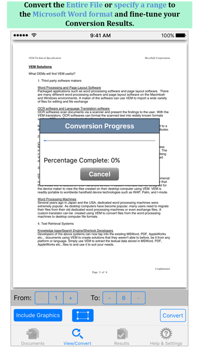 Screenshot of PDF to Word by PDF2Office3