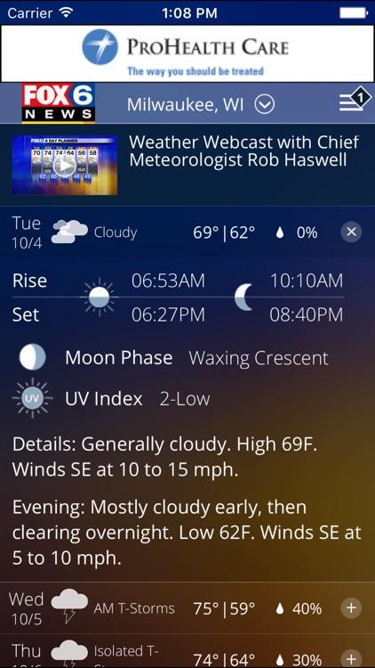 FOX6 Milwaukee Weather screenshot-3