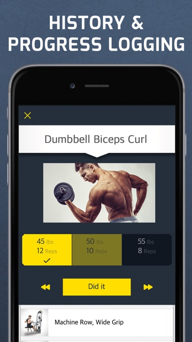 Workout: Gym routines planner Screenshot