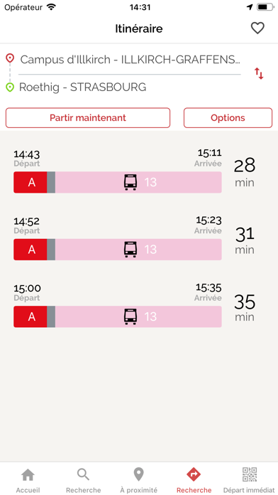 Screenshot #3 pour CTS Transports Strasbourg