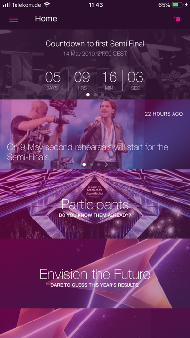 Eurovision Song Contest - The Official App Screenshot 1