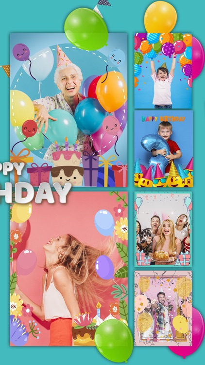 Birthday Photo Frames Collage