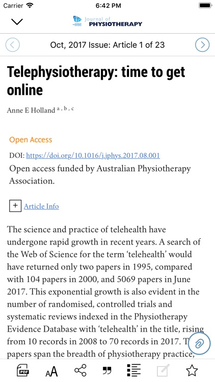 Journal of Physiotherapy screenshot-3