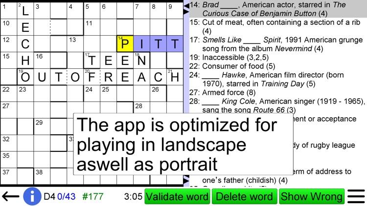 Barred Crossword screenshot-4