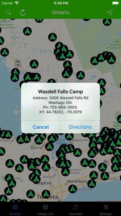 Ontario – Camps & RV Parks screenshot-4