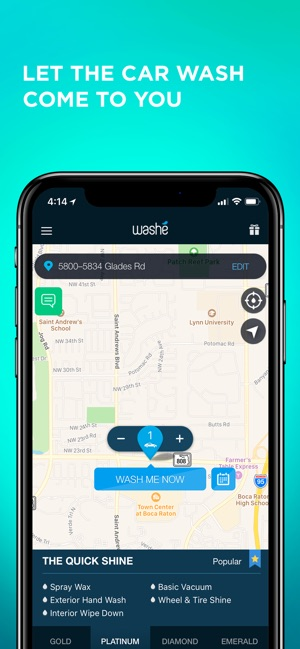Washe - Car Washes Delivered on the App Store