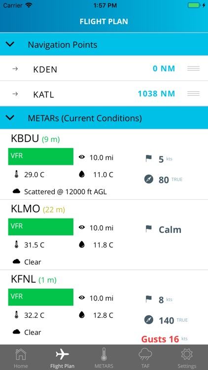Aviation Weather - METARs/TAFs