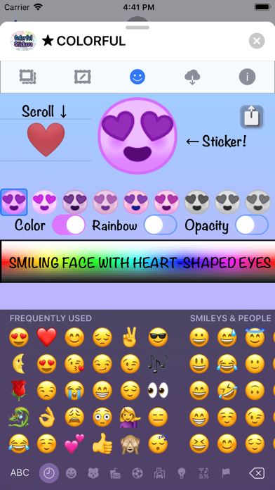 Colorful Stickers and Emoji screenshot 10