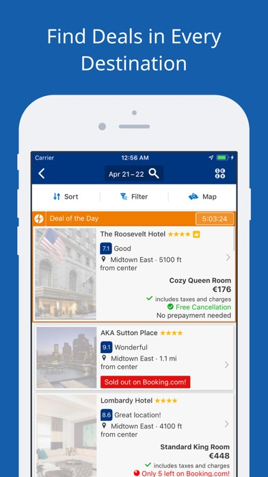 Screenshot for Booking.com: Hotels & Travel in Romania App Store