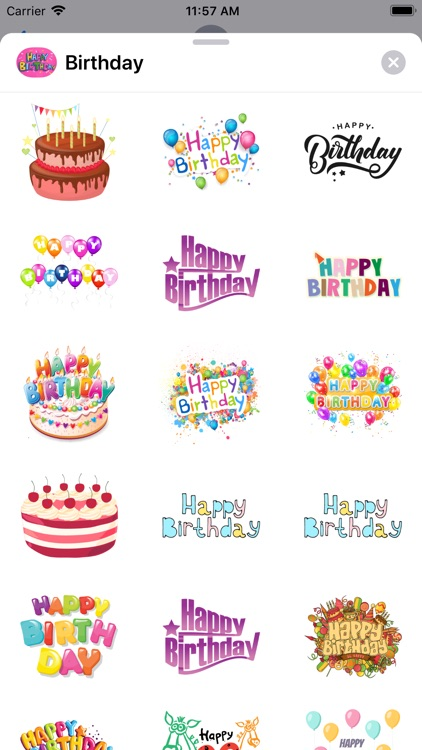 100+ Happy Birthday Stickers screenshot-3