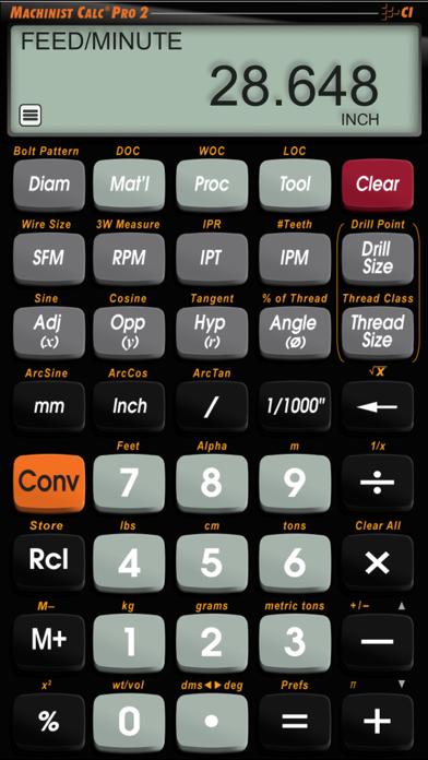 Machinist Calc Pro 2 screenshot two
