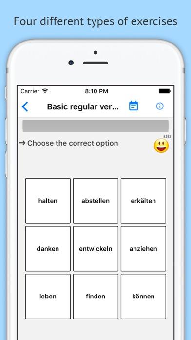 Verben - Trainer screenshot two