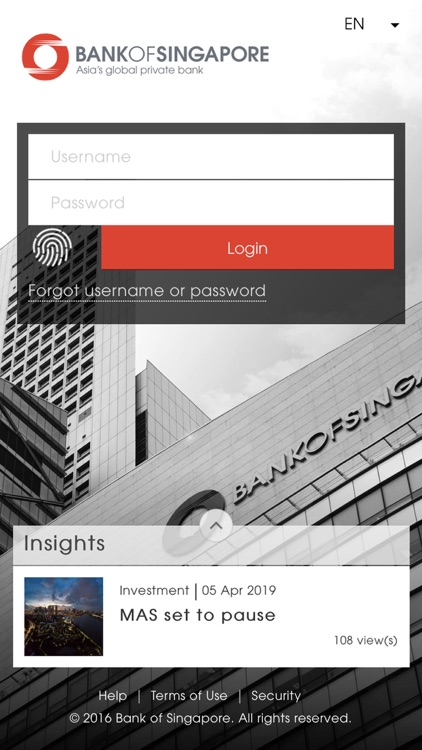 Bank of Singapore (for iPhone)