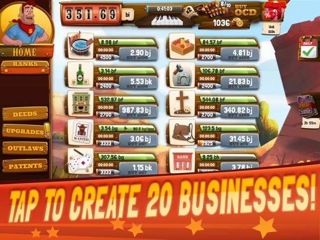 Wild West: Idle Tycoon Clicker on the App Store