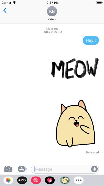Cat Doodle Stickers