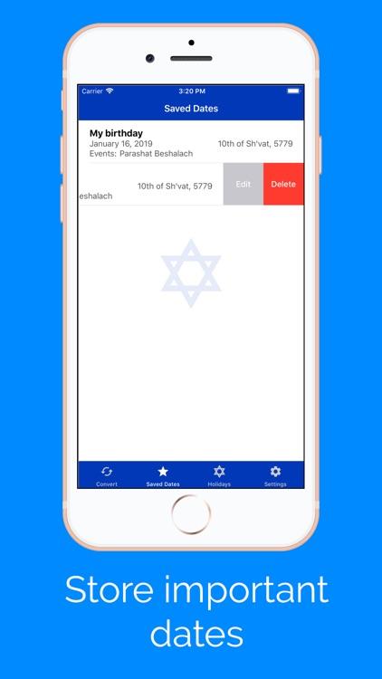 Jewish Calendar and Dates screenshot-3