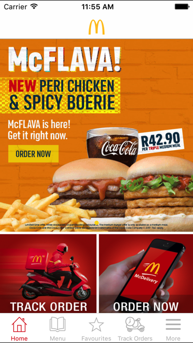 Screenshot for McDelivery South Africa in South Africa App Store
