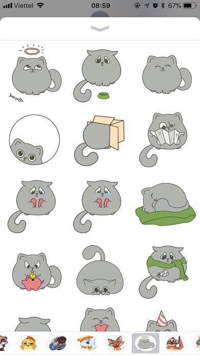 Cute Cat Emoji Funny Stickers screenshot 1