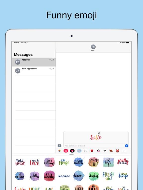 Quick words - text stickers screenshot 8