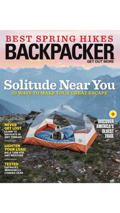 Backpacker review screenshots