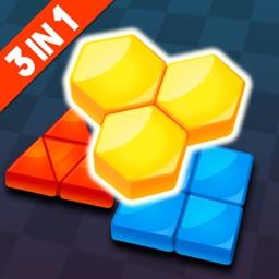Blockdom: Hexa,Triangle,Square