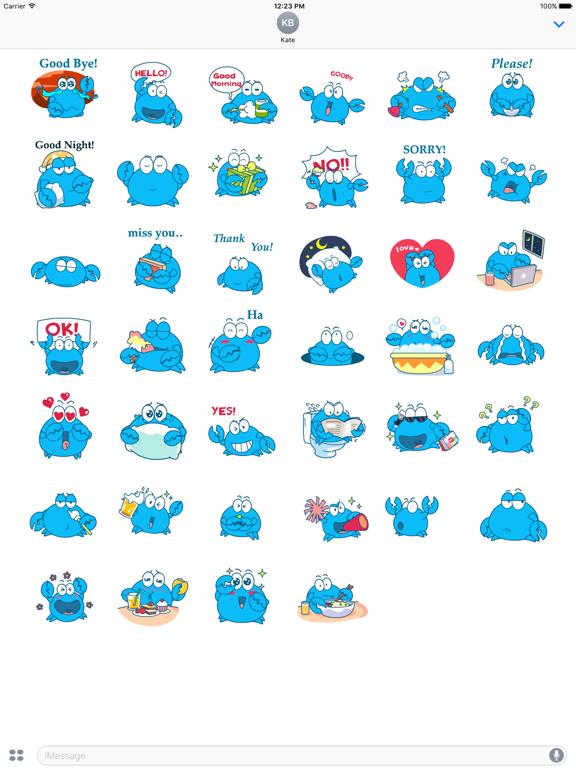 Animated Blue Crab Stickers screenshot 6