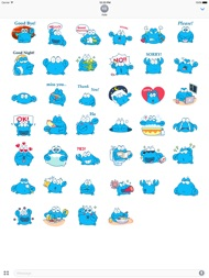 Animated Blue Crab Stickers ipad images