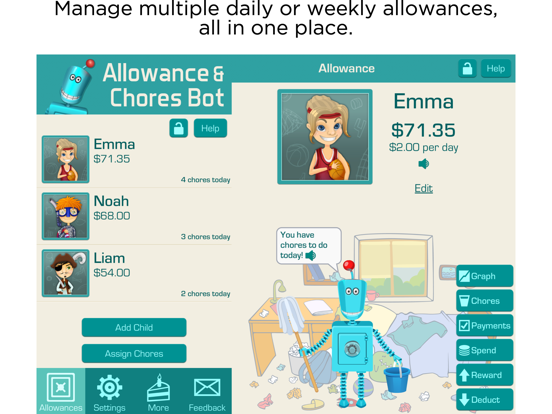 Allowance & Chores Bot screenshot