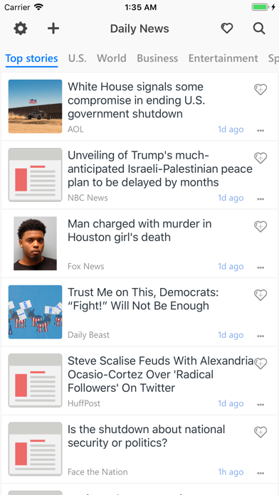 Unread: Breaking & Smart News screenshot one