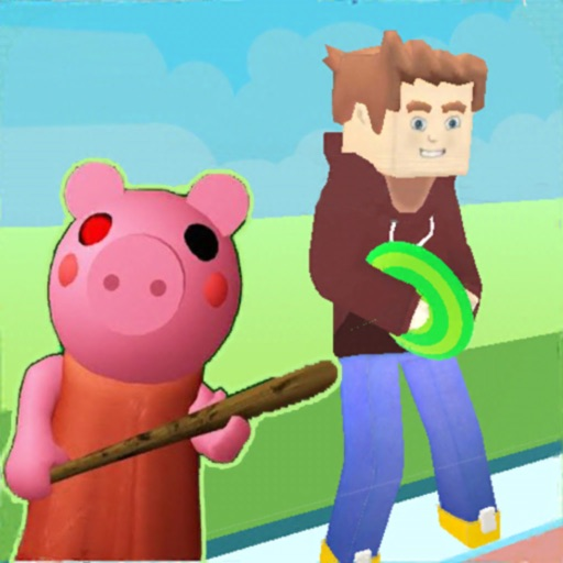 Obby vs Scarry Piggy Disc Game