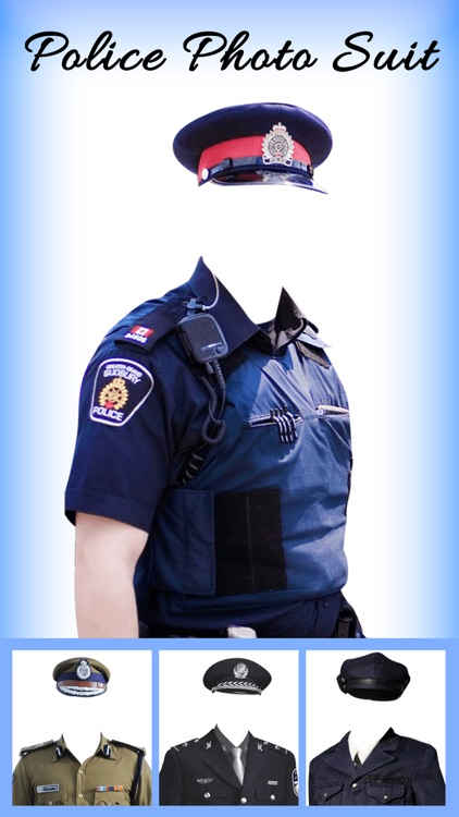 Men Police suit Photo Editor