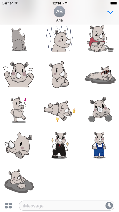 Cute Rhino RhinoMoji Sticker app image