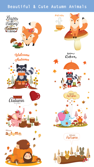 Autumn - Greetings with Animal screenshot 3
