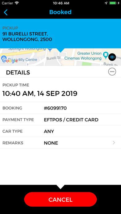 Illawarra Taxi Network screenshot four