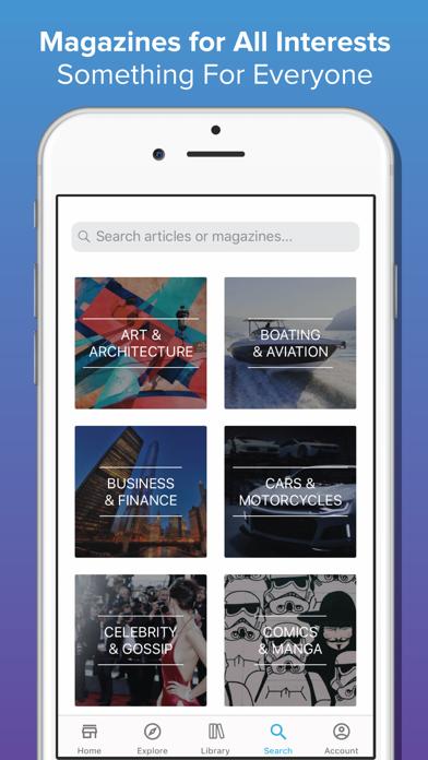 ZINIO - Magazine Newsstand Screenshot on iOS