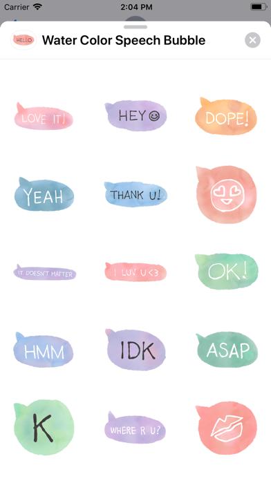 Water Color Speech Bubble screenshot 5