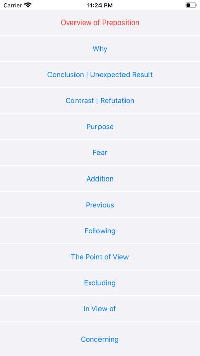 Preposition | English Grammar screenshot 1