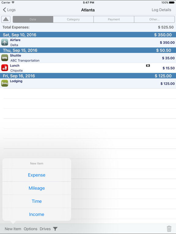 BizXpenseTracker - Expense, Mileage & Time Tracking screenshot