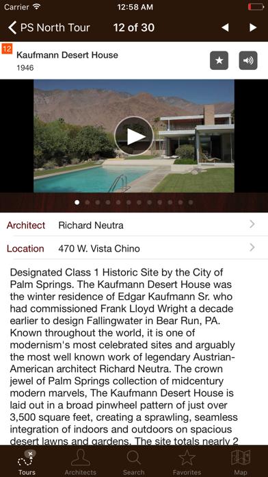 Palm Springs Modernism Tour Screenshot